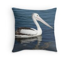 Pelican in River, Nambucca, N.S.W. Australia. Throw Pillow