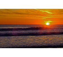Sunset at Carcavelos 1 Photographic Print