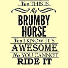 This is my Brumby Horse ~Dark Version by Laura Sykes