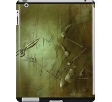 Reaching for Scissors, Creepy Puppet Painting iPad Case/Skin