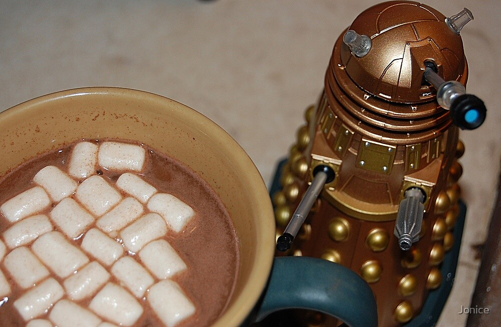 Dalek, Coffee, Cocoa and Marshmellows by Jonice