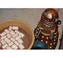 Dalek, Coffee, Cocoa and Marshmellows Photographic Print