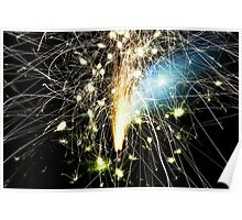 Fireworks from the ground Poster