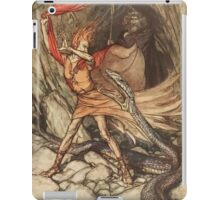The Rhinegold & The Valkyrie by Richard Wagner art Arthur Rackham 1910 0117 Horrible Dragon Swallow Me Not iPad Case/Skin