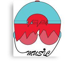 Music Head  Canvas Print