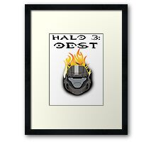 Halo 3: ODST Orange Flaming Helmet Framed Print