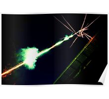 Fireworks shooting into the sky Poster