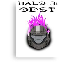 Halo 3: ODST Purple Flaming Helmet Canvas Print