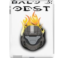 Halo 3: ODST Orange Flaming Helmet iPad Case/Skin