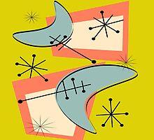 Atomic Inspired Boomerang Design by Gail Gabel, LLC