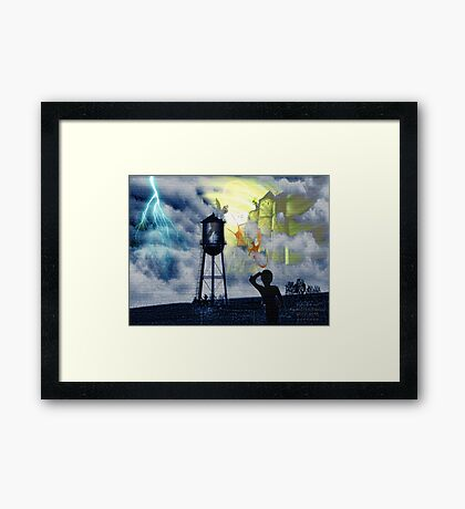 Gargoyles and Dragons Framed Print