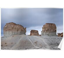 Tea Kettle & Sugar Bowl Formation, Green River Wyoming US 80 Poster
