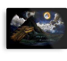 Smaug and the Lonely Mountain Metal Print