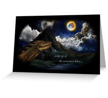 Smaug and the Lonely Mountain Greeting Card