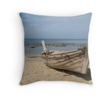 Lone Boat - Thailand Throw Pillow
