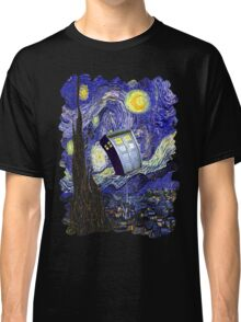 Tardis Starry Night Classic T-Shirt