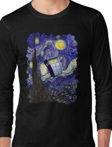 Tardis Starry Night Long Sleeve T-Shirt