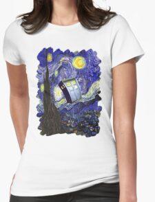 Tardis Starry Night Womens Fitted T-Shirt