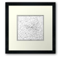 John Snow's Cholera Map Framed Print