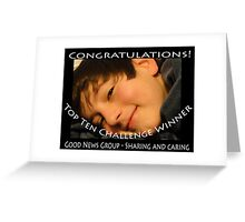 Sharing and Caring Winner Banner Greeting Card