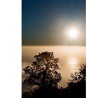 Misty Nepenthe Sunset - Big Sur, Ca Photographic Print