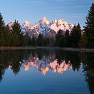 Teton Mountains' Dawn - Schwabacher Landing by Stephen Beattie