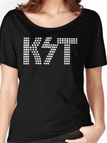 KST Black and White Women's Relaxed Fit T-Shirt