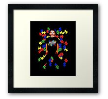 Autism Awareness Human Ribbon (Dedicated to my cousin) Framed Print