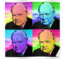 Winston Churchill - Pop Art Poster