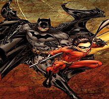 Batman and Robin by piloArt