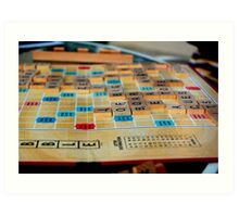 Scrabble Game Art Print
