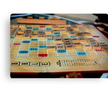 Scrabble Game Canvas Print