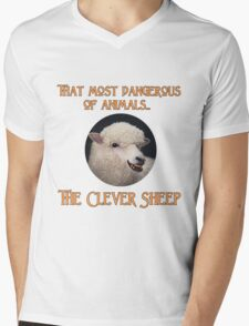 That Most Dangerous of Animals - The Clever Sheep Mens V-Neck T-Shirt
