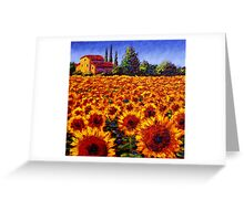 Provençal Sunflowers Greeting Card