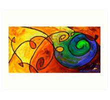 Swirl in the Candy Sea Art Print