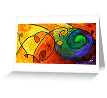 Swirl in the Candy Sea Greeting Card