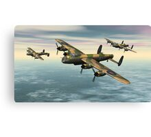 A Flight of Avro Lancaster bombers Canvas Print