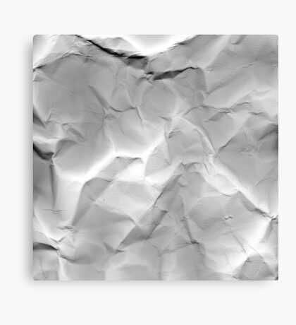 crumpled Canvas Print