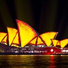Opera House with Vivid Red and Yellow! by Matt-Dowse