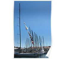 All lined up - Hobart waterfront Poster