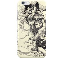 The Zankiwank & the Bletherwitch by Shafto Justin Adair Fitz Gerald art Arthur Rackham 1896 0135 Red Cavern Swallows All iPhone Case/Skin