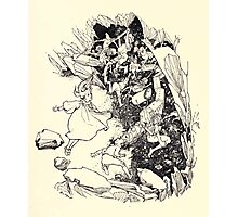 The Zankiwank & the Bletherwitch by Shafto Justin Adair Fitz Gerald art Arthur Rackham 1896 0135 Red Cavern Swallows All Photographic Print