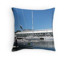 Hobart waterfront - Sydney to Hobart Throw Pillow