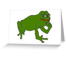pepe Happy Frog Greeting Card