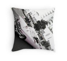 Pink Cadillac Throw Pillow