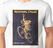 Vintage Bicycle Poster Parody - Menstrual Cycles Unisex T-Shirt