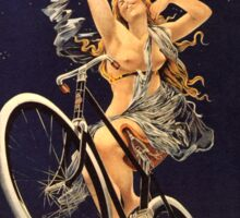 Vintage Bicycle Poster Parody - Menstrual Cycles Sticker
