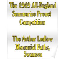 The 1969 All-England Summarize Proust Competition Poster