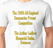 The 1969 All-England Summarize Proust Competition Unisex T-Shirt
