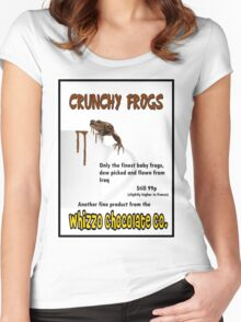 Crunchy Frogs - Whizzo Chocolate Co. Women's Fitted Scoop T-Shirt